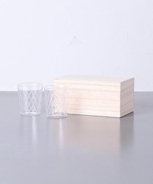 【UA30th】<木村硝子店(キムラガラステン)>切子模様 グラス 2SET