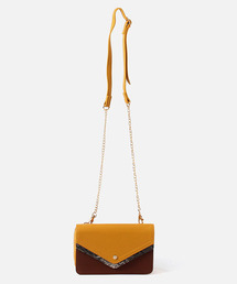 AZUL BY MOUSSY(アズールバイマウジー)のPYTHON FLAP WALLET BAG/パイソンフラップバッグ(ショルダーバッグ)