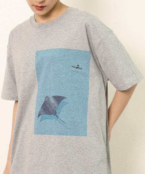 【 JONAS CLAESSON / ジョナス・クレアッソン 】EAGLE RAY プリント半袖Tシャツ NSB