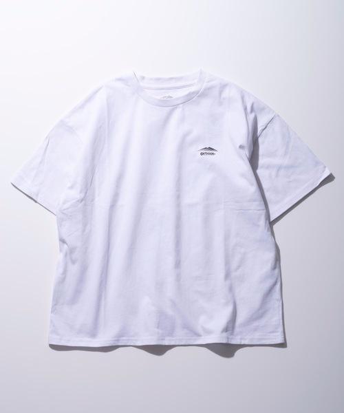 同色ワンポイントブランドロゴ入りTシャツ 防蚊加工