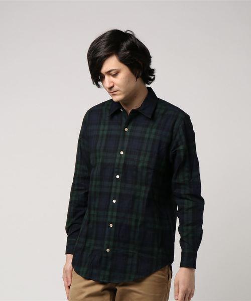 SLEEPY JONES / スリーピージョーンズ:noah shirt flannel blackwatch:MT014-F1243-410[DEA]