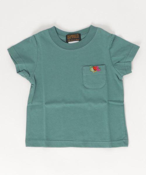 FRUIT OF THE LOOM(フルーツオブザルーム)の「FRUIT OF THE LOOM ポケットT(90〜150cm)(Tシャツ/カットソー)」|グリーン