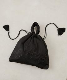 ear PAPILLONNER(イアパピヨネ)の馬刺繍巾着バッグ【web限定】(トートバッグ)