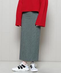 <H>TWEED TIGHT SKIRT/スカート