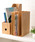 東京家具(トウキョウカグ)の「ブックスタンド 3連 [木製小物](収納グッズ)」|ナチュラル