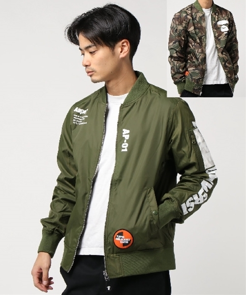 AAPE BY A BATHING APE(エーエイプバイアベイシングエイプ)の「AAPE LIGHT WEIGHT JACKET(ミリタリージャケット)」|カーキ