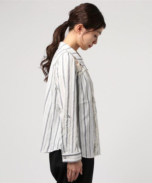 透けチュールレースシャツ