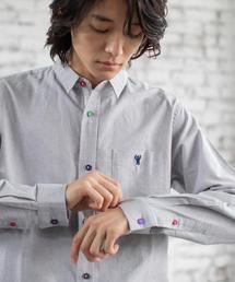 オックスフォードクレイジーボタンレギュラーカラーシャツ
