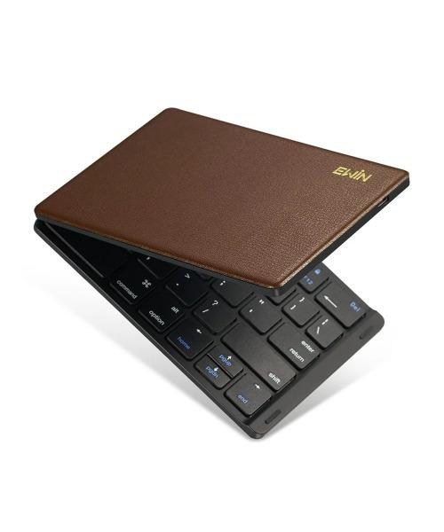 持ち運び便利 2つ折りたたみ式 Bluetooth キーボード