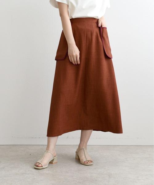 ペプラムポケットAラインスカート