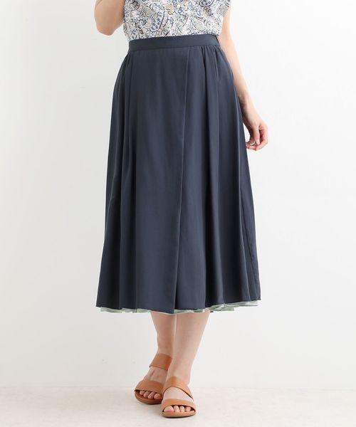 LA MARINE FRANCAISE(マリン フランセーズ)の「リバーシブルスカート(スカート)」|ネイビー