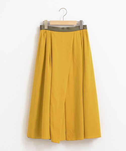 LA MARINE FRANCAISE(マリン フランセーズ)の「リバーシブルスカート(スカート)」|イエロー