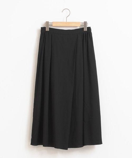 LA MARINE FRANCAISE(マリン フランセーズ)の「リバーシブルスカート(スカート)」|ブラック