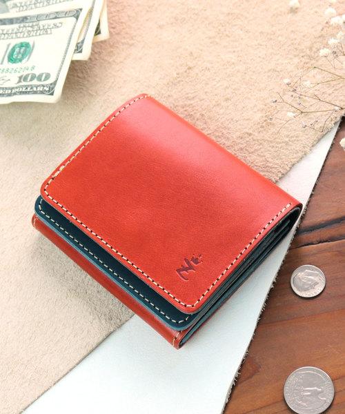 [ZARIO-grandee-/ザリオ-グランデ-] コンパクト二つ折り財布 メンズ 栃木レザー