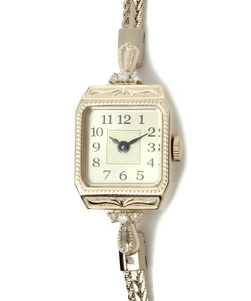 5301f06757 スクエアフェイスジュエリーウォッチ 【A.CNO.2YG時計】|腕時計|agete(アガット)公式通販