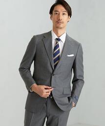 [グアベロ] GUABELLO チョークストライプ 2B SG NT HP スーツジャケット<日本製>