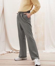 梨地ルーズリラックスワンタックフレアスラックスパンツ /EMMA CLOTHES 2020AW (セットアップ対応)ブラウン系その他