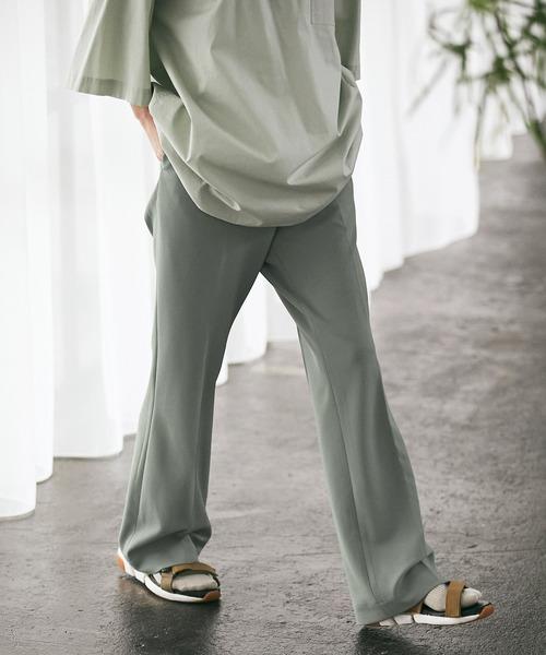 梨地ルーズリラックスワンタックフレアスラックスパンツ /EMMA CLOTHES 2020-2021WINTER (セットアップ対応)