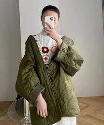 【SANSeLF】 quilting spring jacket sanwz4カーキ