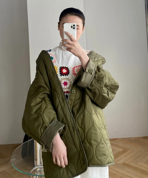 【SANSeLF】 quilting spring jacket sanwz4