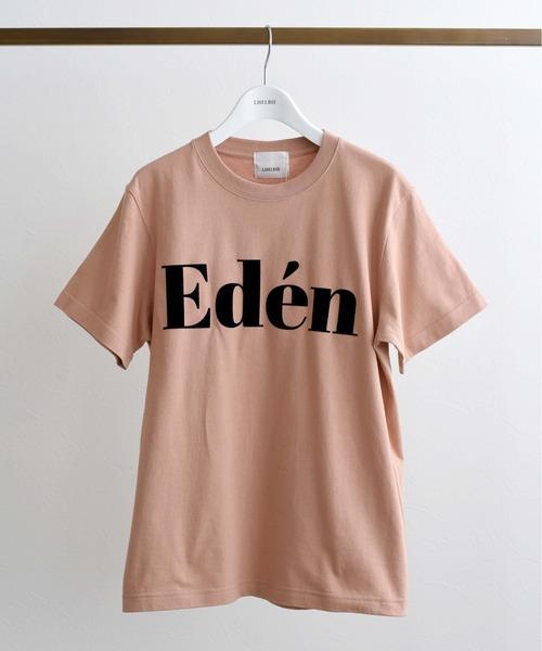 EdenフロッキーロゴプリントTシャツ