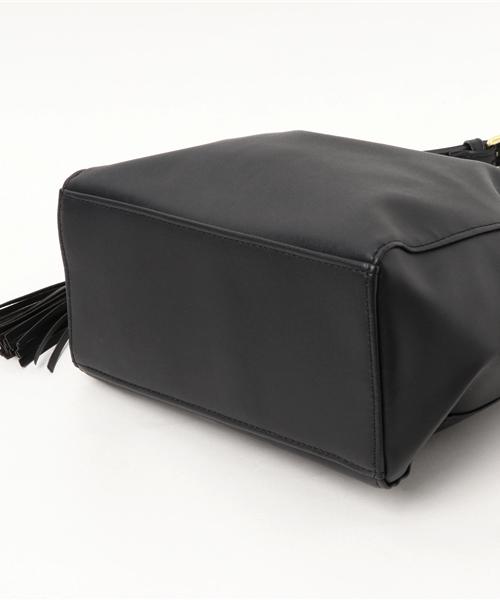 サイドフリンジフェイクレザーバッグ