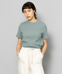 SENSE OF PLACE by URBAN RESEARCH(センス オブ プレイス バイ アーバンリサーチ)のリブクルーネックTシャツ(半袖)(Tシャツ/カットソー)