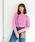 NiCORON(ニコロン)の「袖ボタンニットプルオーバー ●★(ニット/セーター)」|ピンク