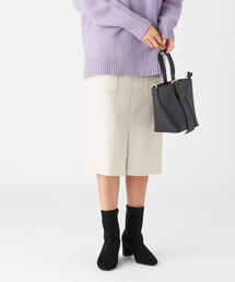 EMMEL REFINES(エメルリファインズ)のFC T/W ダブルクロスステッチ タイトスカート(スカート)