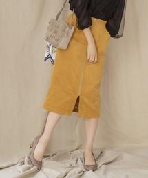 MEW'S REFINED CLOTHES(ミューズリファインドクローズ)のコーデュロイタイトスカート(スカート)