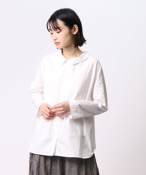 【 ubasoku / ウバソク 】2WAY小衿ワイドシルエットブラウス ub-0096 BNT