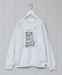 <UNUSED>BEAR PRINT SWEAT CREW NECK PULLOVER/スウェット.