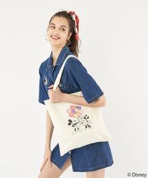 【Disney/ディズニー/ミッキー&ミニー】トートバッグホワイト