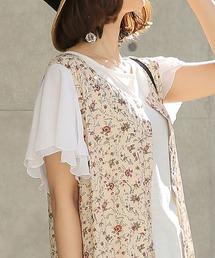 osharewalker(オシャレウォーカー)の『フレアスリーブデザインTシャツ』(Tシャツ/カットソー)