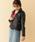 ITEMS URBANRESEARCH(アイテムズ アーバンリサーチ)の「ラムレザーダブルライダースジャケット(その他アウター)」|ブラック