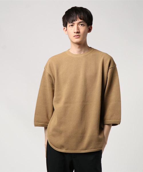 crepuscule(クレプスキュール)の「【crepuscule】クレプスキュール 7's round knit(ニット/セーター)」 カーキ