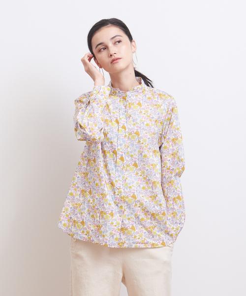 collex(コレックス)の「【LIBERTY /リバティ】Wスタンドカラーシャツ(シャツ/ブラウス)」|イエロー