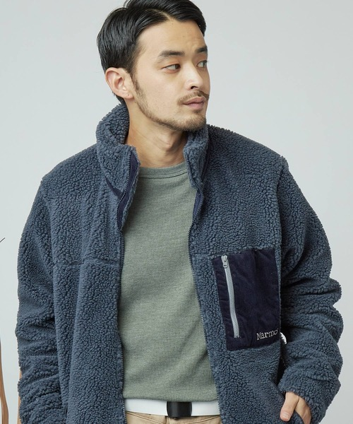 Marmot/マーモット Sheep Fleece Jacket シープフリーススキンジャケット/コーデュロイ切替ボアブルゾン