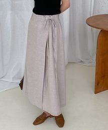 【chuclla】Wide wrap linen pants sb-4 chw1168ライトベージュ