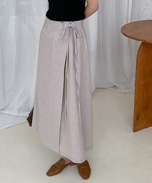【chuclla】Wide wrap linen pants sb-4 chw1168