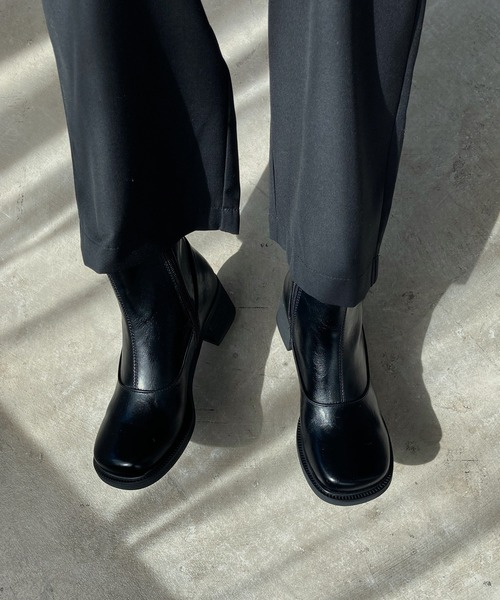 【chuclla】【2020/AW】Round square toe stitch boots chs96