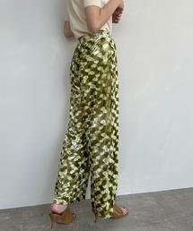 【SANSeLF】 light velor pants sanwz6グリーン