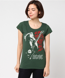 ACDC/FOR THOSE ABOUT TO ROCK プリント Tシャツ