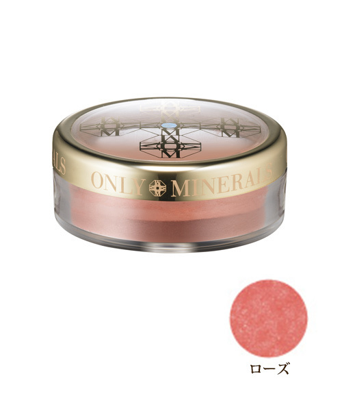 ONLY MINERALS(オンリーミネラル)の「ONLY MINERALS ブラッシュ ローズ(チーク)」 ピンク