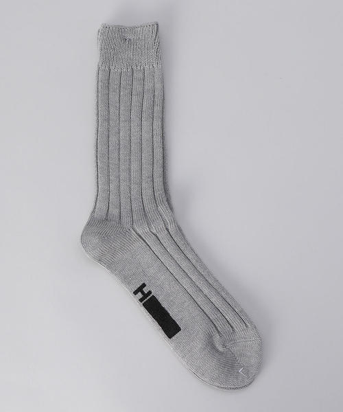 <H>SILKET RIB REGULAR SOCKS/ソックス