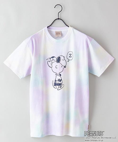 【PEANUTS/ピーナッツ】プリントタイダイTシャツ