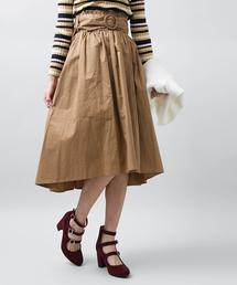 WEGO(ウィゴー)のWEGO/ベルト付きイレヘムミドルスカート(スカート)