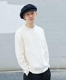 L&HARMONY(エルアンドハーモニー)の[L&HARMONY / エルアンドハーモニー] ハイクルーネックポケットロングスリーブTシャツ'Made in Japan'(Tシャツ/カットソー)
