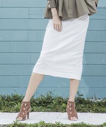 【STYLEBAR】ミリタリータイトスカートオフホワイト