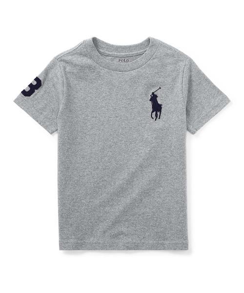 Polo Ralph Lauren Childrenswear(ポロラルフローレンチャイルドウェア)の「コットン ジャージー クルーネック Tシャツ(Tシャツ/カットソー)」|グレー